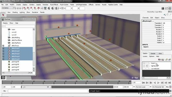 Laying out the scene: Creating Simulations in Maya Dynamics