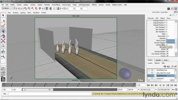 Adding friction: Creating Simulations in Maya Dynamics
