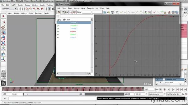 Simplifying animation curves: Creating Simulations in Maya Dynamics