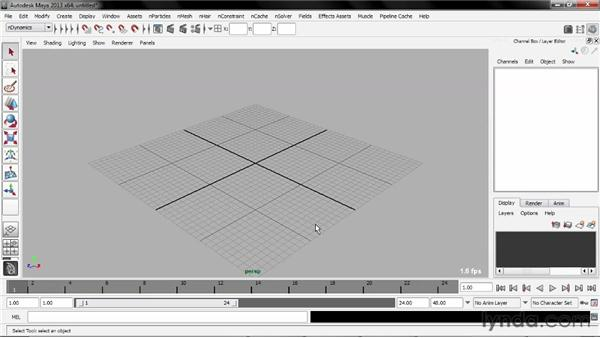Using the exercise files: Understanding Maya nCloth