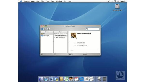 Address Book: Learning Mac OS X 10.3 Panther