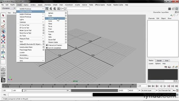 Building polygon primitives: Understanding Maya nCloth