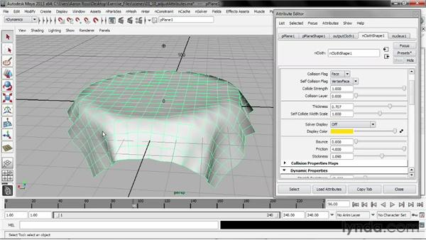 Adjusting nCloth and nRigid attributes: Understanding Maya nCloth