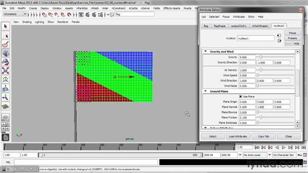 Adding Nucleus wind: Understanding Maya nCloth