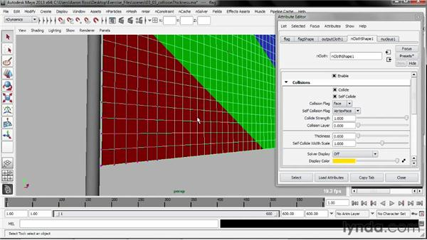 Controlling collision thickness: Understanding Maya nCloth