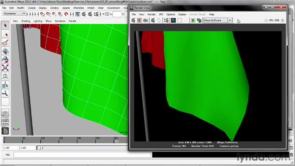 Smoothing nCloth with subdivision surfaces: Understanding Maya nCloth