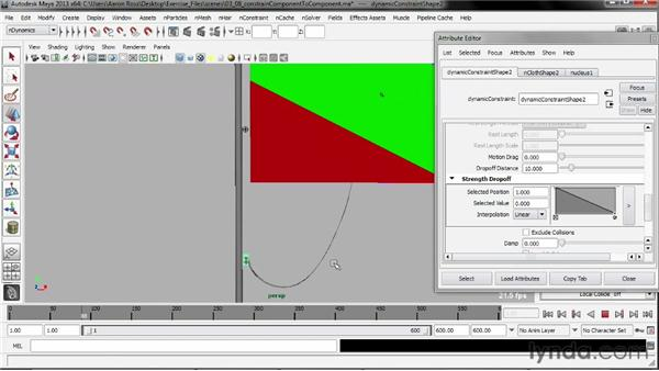 Constraining component to component: Understanding Maya nCloth