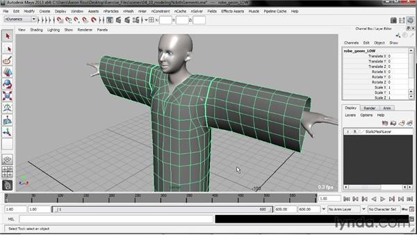 Modeling nCloth garments: Understanding Maya nCloth
