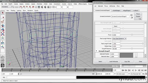 Creating a point-to-surface nConstraint: Understanding Maya nCloth