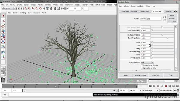 Simulating many objects: Understanding Maya nCloth