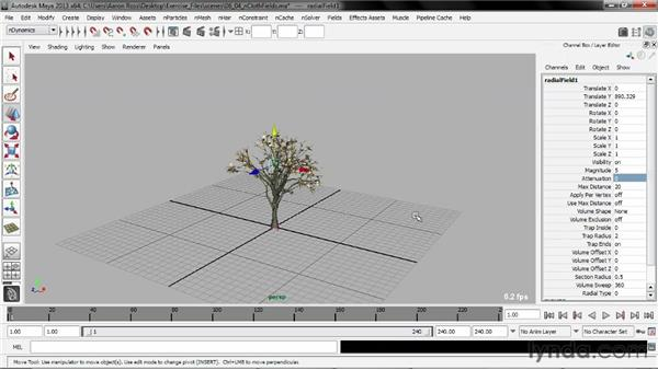 Connecting nCloth to fields: Understanding Maya nCloth
