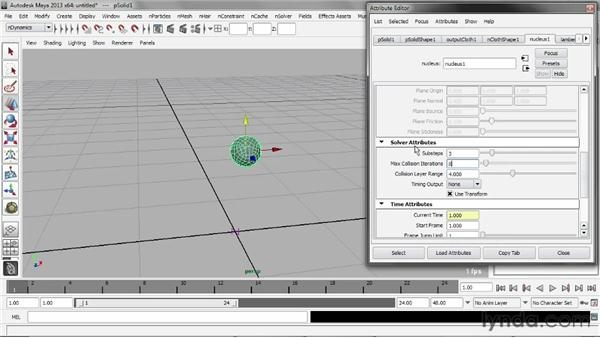 Simulating rigidity: Understanding Maya nCloth
