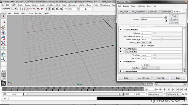 Warping objects with Input Mesh Attract: Understanding Maya nCloth