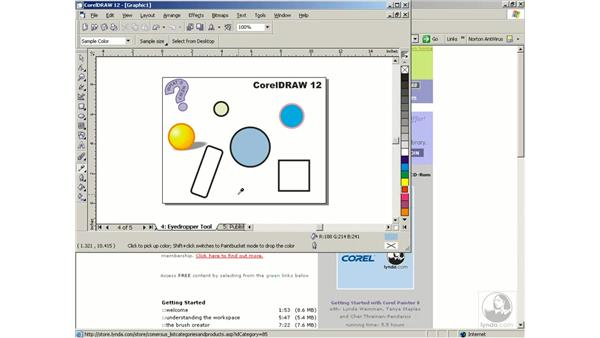 eyedropper tool: Getting Started with CorelDRAW Graphics Suite 12