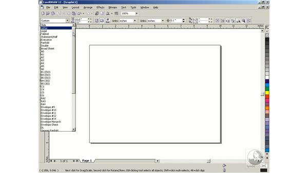 setting up a page: Getting Started with CorelDRAW Graphics Suite 12