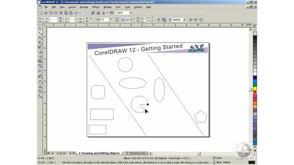 drawing and editing objects: Getting Started with CorelDRAW Graphics Suite 12