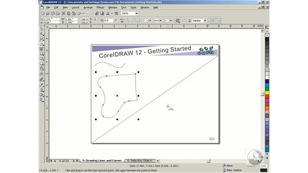 drawing lines and curves: Getting Started with CorelDRAW Graphics Suite 12