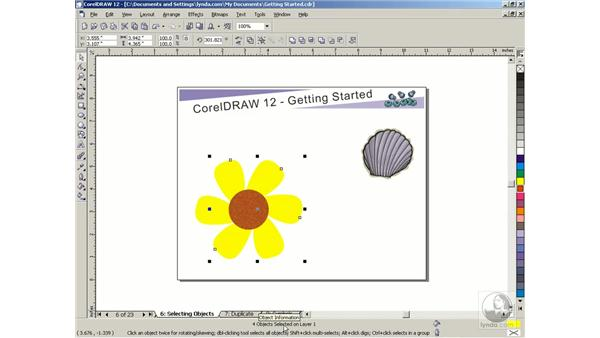 selecting objects: Getting Started with CorelDRAW Graphics Suite 12