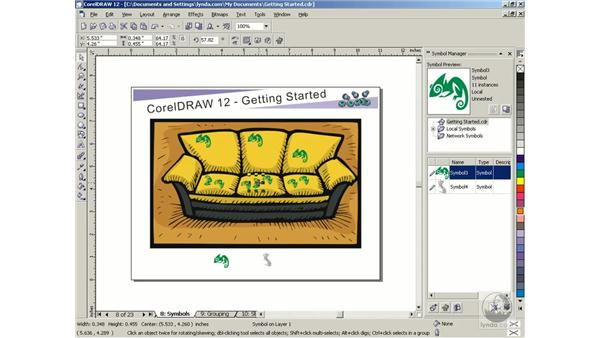 symbols: Getting Started with CorelDRAW Graphics Suite 12