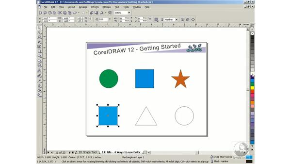 fills: Getting Started with CorelDRAW Graphics Suite 12