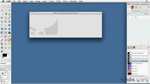 Touring the GIMP interface: GIMP Essential Training