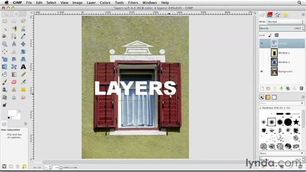 What are layers?: GIMP Essential Training
