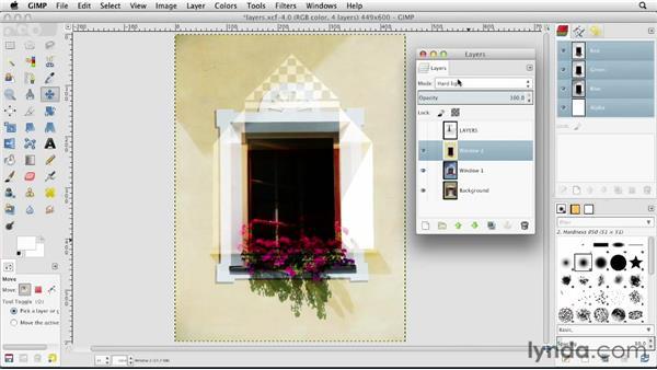 Exploring blend modes: GIMP Essential Training