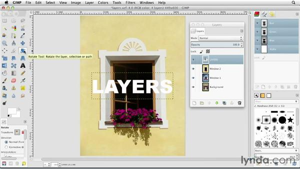 Transforming a layer: GIMP Essential Training