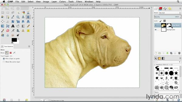Layer masking explained: GIMP Essential Training
