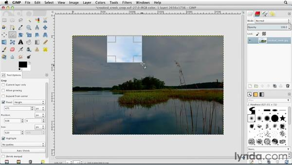 Cropping images: GIMP Essential Training