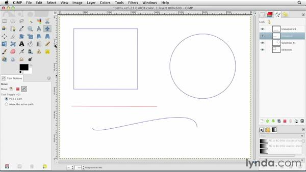 What are paths?: GIMP Essential Training