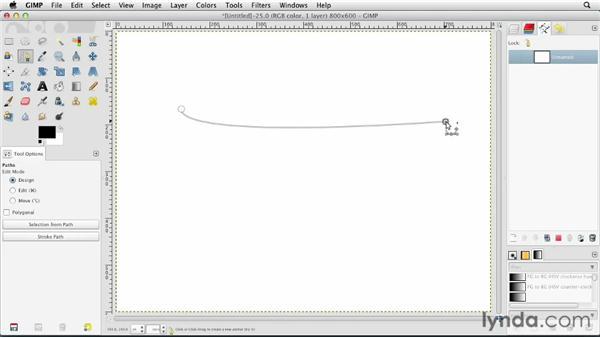Using the Paths tool: GIMP Essential Training