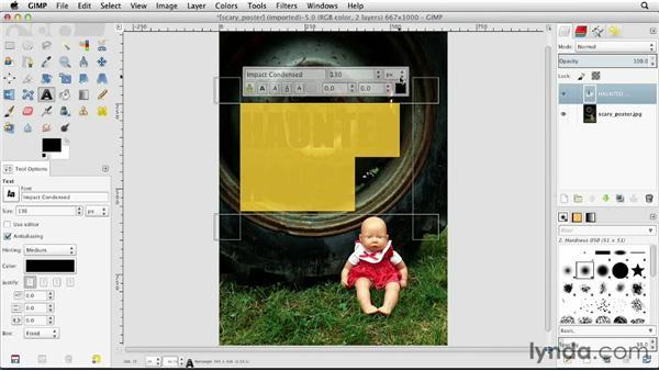 Adding text to images: GIMP Essential Training