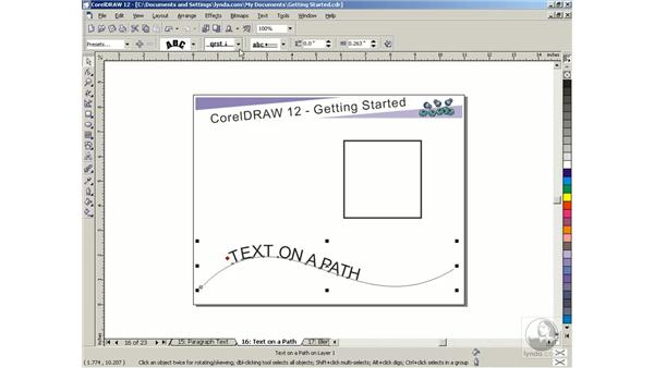 text on a path: Getting Started with CorelDRAW Graphics Suite 12