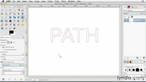 Converting text to a path: GIMP Essential Training