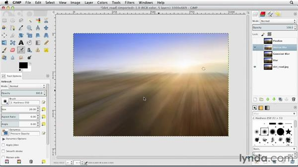 Using the blur filters: GIMP Essential Training
