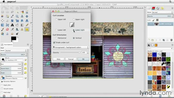 Using the distortion filters: GIMP Essential Training