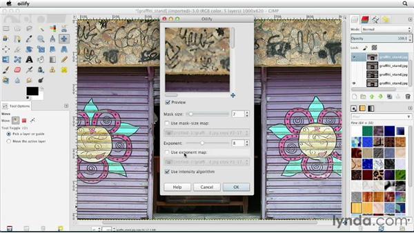 Exploring the artistic filters: GIMP Essential Training