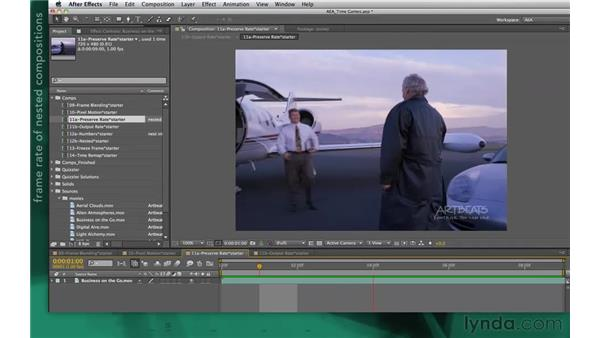 The Preserve Frame Rate option: After Effects Apprentice 10: Time Games