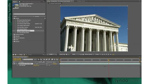 Creating hold and freeze frames: After Effects Apprentice 10: Time Games