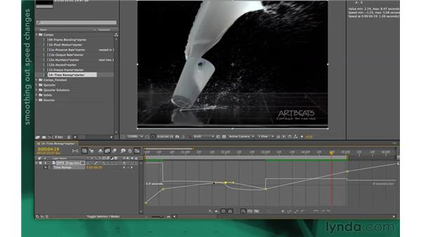 Refining speed changes with the Graph Editor: After Effects Apprentice 10: Time Games