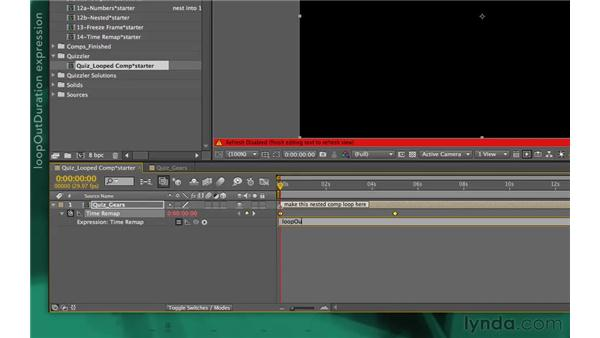 Quizzler solution: After Effects Apprentice 10: Time Games