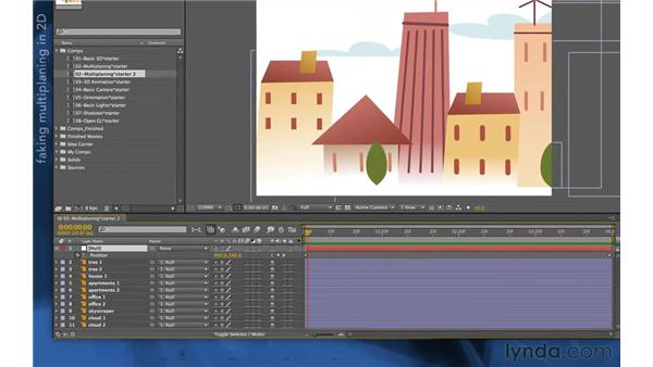 Multi-planing workaround in 2D: After Effects Apprentice 11: 3D Space