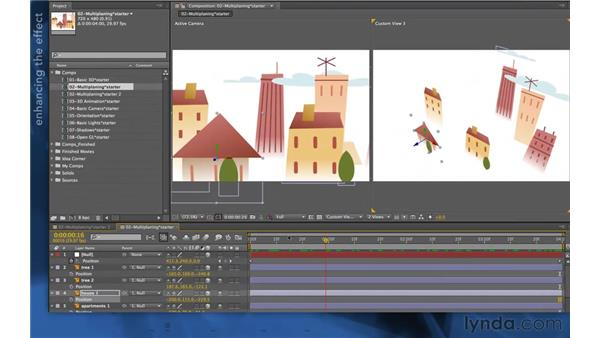 Natural multi-planing in 3D: After Effects Apprentice 11: 3D Space