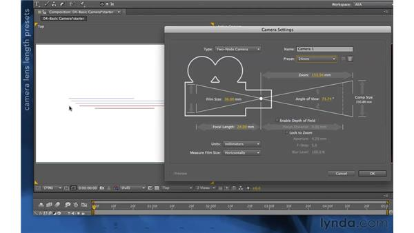 Adding a camera to a composition: After Effects Apprentice 11: 3D Space