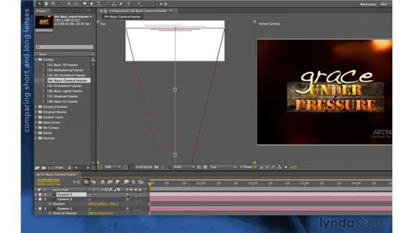 Comparing camera presets: After Effects Apprentice 11: 3D Space