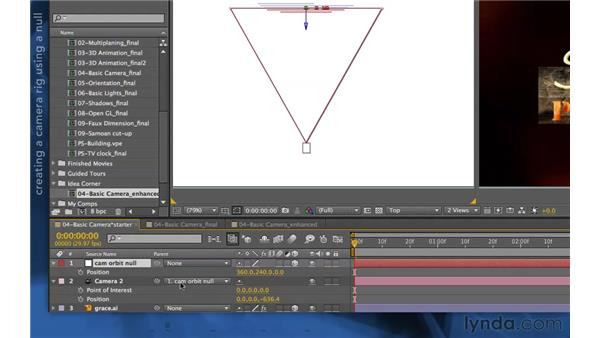 Creating an orbit camera rig: After Effects Apprentice 11: 3D Space