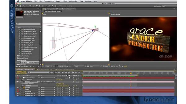 Extending your camera rig: After Effects Apprentice 11: 3D Space