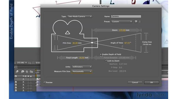 Depth of field blur in CS5.5 and later: After Effects Apprentice 11: 3D Space