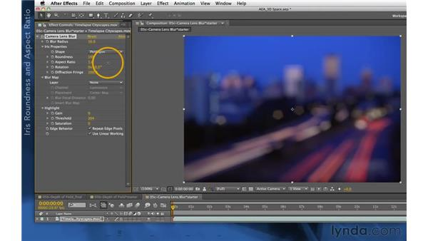Iris properties in CS5.5 and later: After Effects Apprentice 11: 3D Space